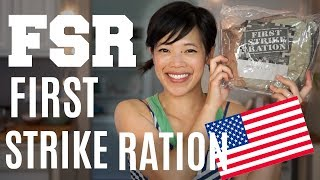 "The First Strike Ration is a 24-hour US military ration that's all about efficiency; no ration heater, no excess packaging, just everything you need to keep fueled for 24 hours.  Join me for my first taste.  Thanks, BlackDogBob for sending me this ration and for making this episode possible. :)New videos every Monday, Thursday, and Saturday!Join the Emmy League of Adventuresome Eaters & find me here:Subscribe: http://youtube.com/subscription_center?add_user=emmymadeinjapanTwitter: https://twitter.com/emmymadeinjapanInstagram: http://instagram.com/emmymadeSnapchat: @emmymadeFacebook: https://www.facebook.com/itsemmymadeinjapan/My other channel: emmymade http://bit.ly/1zK04SJIf you'd like to help by contributing closed captions, or subtitles in another language, please follow this link:: http://www.youtube.com/timedtext_video?ref=share&v=DiJmSD6dI0wThis video is NOT sponsored.  Chinese Take Out Taste Test: http://bit.ly/2tdQq0cMilitary Ration Playlist: http://bit.ly/1joAS3iCanadian IMP: http://bit.ly/2rOo4YEBee Vlogs: http://bit.ly/2qGyaf4Monster Mansion & Sprightly music courtesy of audionetwork.com and royalty-free Sprightly from iMovie.  If you're reading this, you know what's what. Comment: ""Whistling was never my forte. "" below. :)"