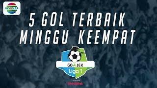 Video 5 Gol Terbaik Minggu Keempat   Go-Jek Liga 1 bersama Bukalapak MP3, 3GP, MP4, WEBM, AVI, FLV April 2018