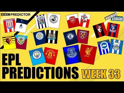 BBC Predictor: Premier League 2017/18 (Week 33)