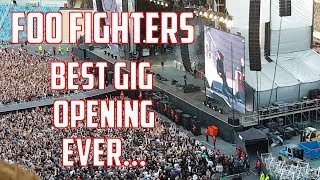 Foo Fighters - best gig opening ever... Ullevi, Gothenburg, Sweden 5/6-18