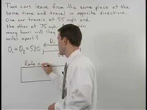 Distance, Rate, Time Equations Video