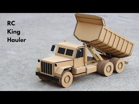 How To Make RC King Hauler Dump Truck From Cardboard || Very Simple