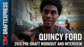 Quincy Ford Interview at NBA Pro Day in Los Angeles