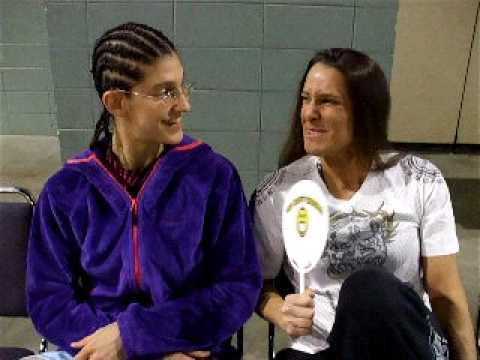 Roxy Modaferri and Tara Larosa before Moosin Fight