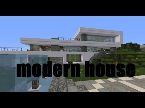 Modern House Crystal Cliff Minecraft Project