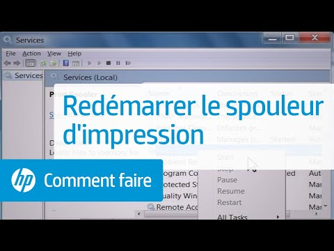 comment demarrer le spouleur d'impression