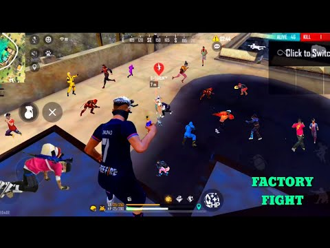 FREE FIRE FACTORY ROOF FIST FIGHT - FF KING OF FACTORY CLASH SQUAD ONE TAP M500 - GARENA FREE FIRE