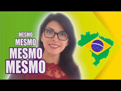 Como usar MESMO em Português?