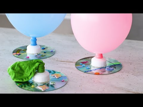 Balloon-Propelled CD Hovercraft- #Marthaandfiggy