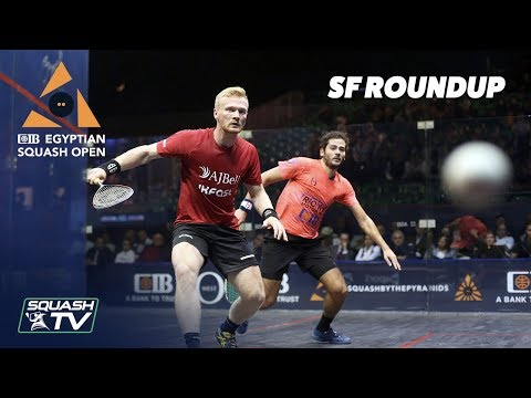 Squash: CIB Egyptian Squash Open 2019 - SF Roundup