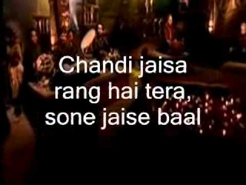 Video Chandi Jaisa Rang Hai Tera-Instrumental & Lyrics download in MP3, 3GP, MP4, WEBM, AVI, FLV January 2017