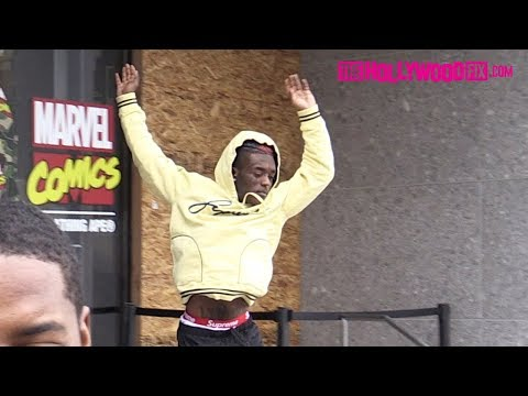 Lil Uzi Vert Jumps Off The Stairs At The Bape Store Before Thanking Paparazzi For His Success