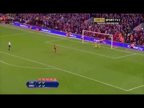 Liverpool 15 - 14 Middlesbrough (Penalty Shootout) (All Goals) (Capital One Cup)