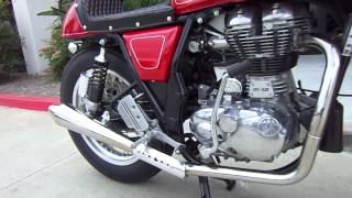 9. Royal Enfield Gt Continental Stainless Exhaust system from Carpys Cafe Racers