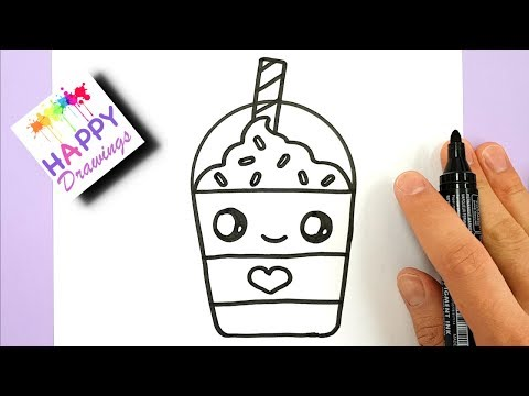 Video How to Draw a Starbucks Frappuccino Cute and EASY | Cartoon Drink download in MP3, 3GP, MP4, WEBM, AVI, FLV January 2017