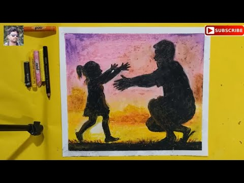 How To Draw Father And Daughter,how To Drawhugging Dad Easy, Sun Set Drawing