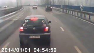 Kierowca tira pokazuje jak wyrolować cwaniaczka z sosnowca…