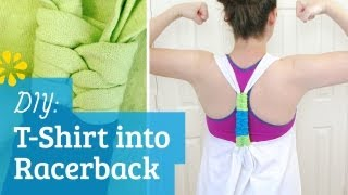 How to Make T-Shirt into Racerback Tank Top - YouTube