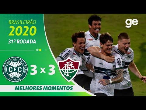 CORITIBA 3 X 3 FLUMINENSE | MELHORES MOMENTOS | 31ª RODADA BRASILEIRÃO 2020 | ge.globo