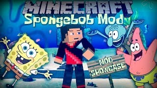 Minecraft: SPONGEBOB MOD  (Spongebob Characters, Spatula and More!) Mod Showcase