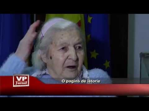 O pagina de istorie