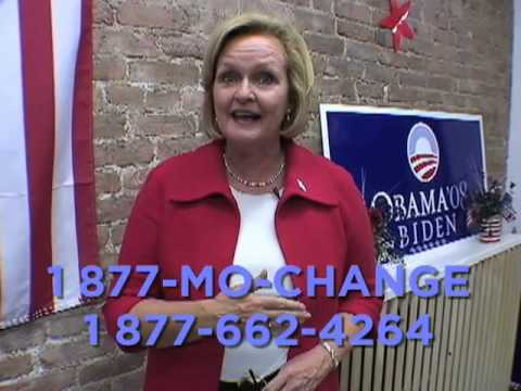 Claire McCaskill Needs Missouri to Elect Barack