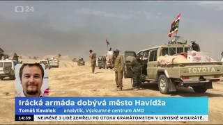 Irácká armáda dobývá město Havídža