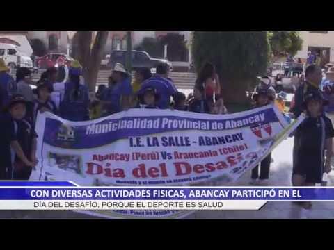 CON DIVERSAS ACTIVIDADES FÍSICAS, ABANCAY PARTICIPÓ EN EL DÍA DEL DESAFÍO