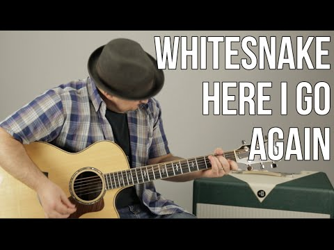 Whitesnake - Here I Go Again - How To Play On Guitar - Lesson - Tutorial, Chords Pro