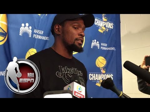 Video: Kevin Durant on his best defensive half of the season in Warriors' win over Spurs | NBA on ESPN