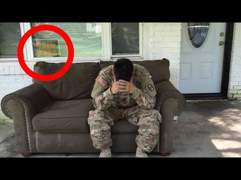 Hero Soldier Returns Home From Service To Find The Most Shocking Sight