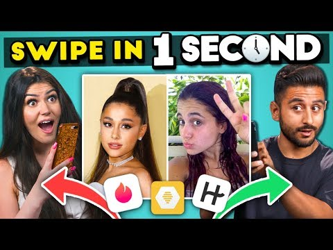 Swipe in 1 Second (Celebrity Dating Challenge)