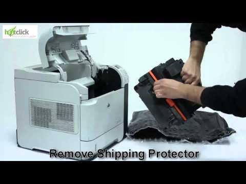 HP P4015n Toner Cartridge Replacement - user guide CC364A