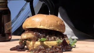 Cheeseburger Del Sol on the SolSource Solar Grill! by Ballistic BBQ