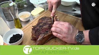 Tomahawk Steak | Blauschimmel-Käsebutter | Orangespargel | Rosmarin-Kartoffeln | Topfgucker-TV
