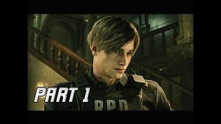 RESIDENT EVIL 2 REMAKE Walkthrough Gameplay Part 1 - Young Leon Kennedy (RE2 Remake PS4)