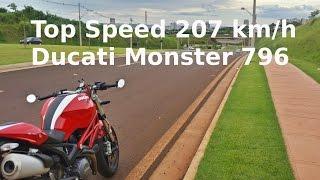 4. Ducati Monster 796 TOP SPEED - 207 KM/H (Velocidade Máxima)