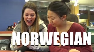 follow me on Twitter https://twitter.com/ShunfuShaufeff I asked some Canadian students what Norwegian sounds like to them. They were not able to tell me until I ...