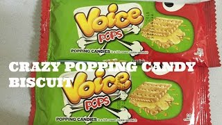 Snakinworld trying a crazy snack named the voice pops which is a popping candy cream biscuit Check out the snackin world blog if you want to purchase this pr...