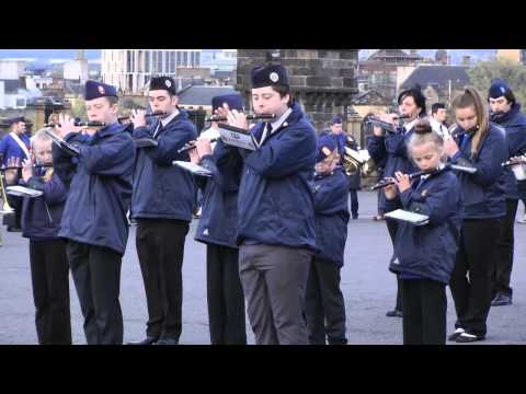 Boys' Brigade Beating Retreat at Edinburgh Castle May 2015