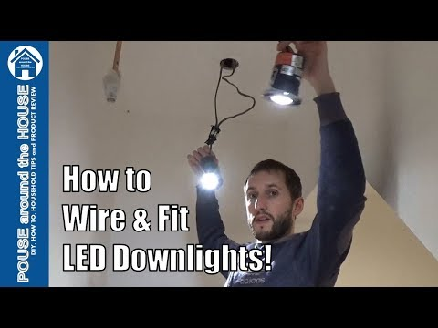 How to install downlighters/downlights. LED downlight installation.