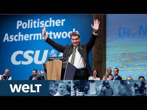 Markus Söder heizt beim Politischen Aschermittwoch dem CSU-Parteivolk ein