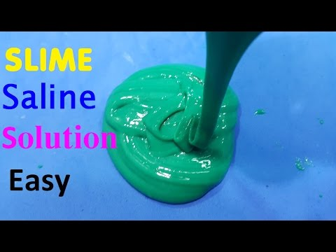 How To Make Slime With Saline solution Easy