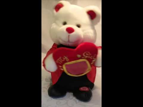 Beverly Hills Teddy Bear Company Valentines Love My Girl bear tuxedo heart Musical (SOLD)