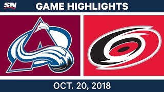 NHL Highlights   Avalanche vs. Hurricanes - Oct.20, 2018 by Sportsnet Canada