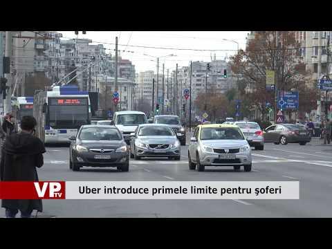 Uber introduce primele limite pentru şoferi