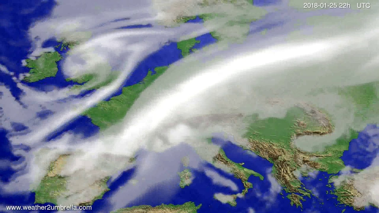 Cloud forecast Europe 2018-01-23