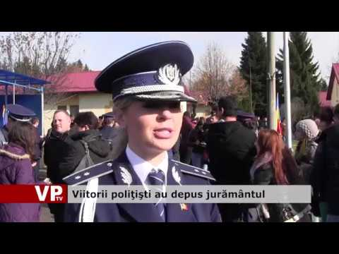 Viitorii poliţişti au depus jurământul