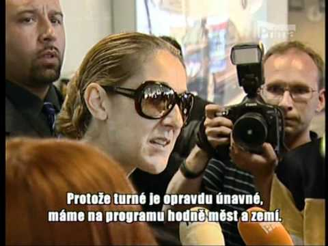 "Celine Dion ""Interview atack""  in Prague Top Star-9-7-2008"