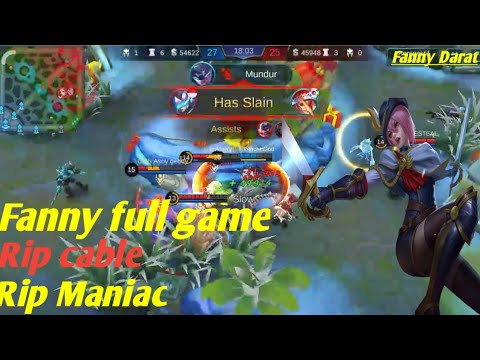 Fanny Fullgame (Fanny darat,rip cable,rip maniac) Mobile legend 